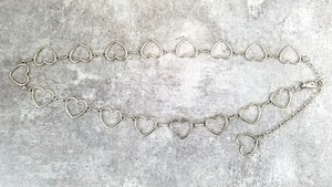 Heart Ring Chain Belt size M