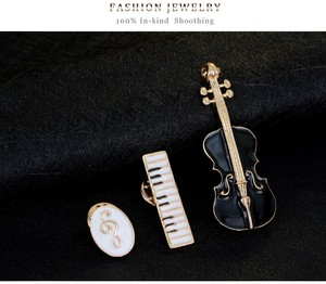 Music Instrument Brooch 3-unit Set