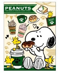 Snoopy Book Sticky Note Cafe