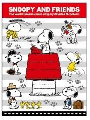 Snoopy Book Sticky Note Border