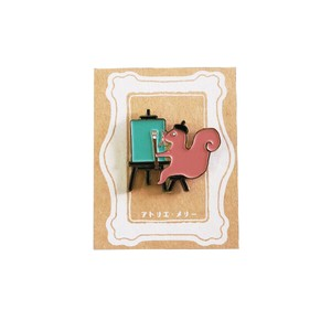 Atelier Merry pin Badge Squirrel