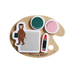 Atelier Merry Pallet Sticky Note bear