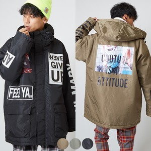 A/W Men's Decoration Padding Mountain Hoody Military Blouson