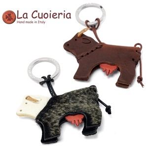 Cow Leather Area Leather Key Ring
