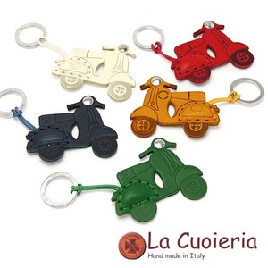 Italy Brand Cow Leather Area Leather Key Ring