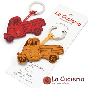 Italy Brand Cow Leather Area Leather Key Ring Track