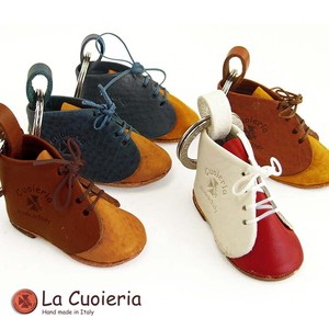 Italy Brand Cow Leather Area Leather Key Ring Shoe Baby Shoes Birth