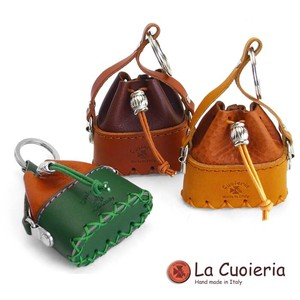 Italy Brand Cow Leather Area Leather Key Ring Shoulder