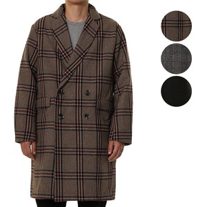 A/W Men's Wool Double Rest Checkered Chesterfield Coat