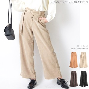 A/W soft CORDUROY wide pants