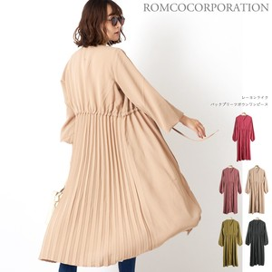 A/W Rayon Bag Pleats Robe One Piece
