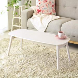 折りたたみ ローテーブル ホワイト 姫系 幅90cm