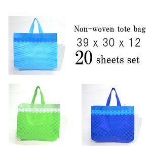 Lace Dot Pattern Non-woven Cloth Tote Bag 20 Pcs Set