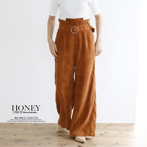 A/W Belt Attached CORDUROY wide pants Bottom