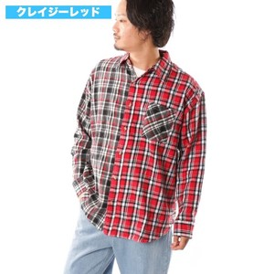 [2019NewItem] Big Checkered Shirt Big Silhouette Pattern Shirt