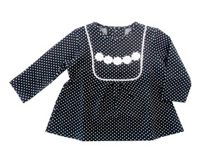 Dot Jacquard Tunic Sweatshirt