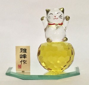 Better Fortune Zodiac Fortune Ornament Crystal Feng Shui Beckoning cat