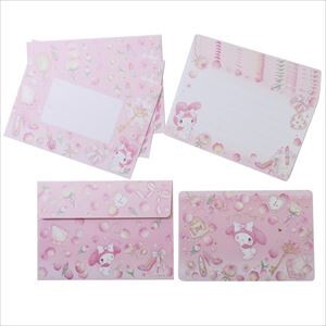 Miki Takei My Melody Mini Writing Papers & Envelope Leaf Rule