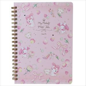 Miki Takei My Melody Double Ring Notebook Leaf Rule