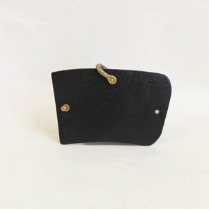 Tochigi Leather Key Case Black Cow Leather Hina Doll Brass Black
