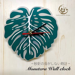 Monstera Wall Hanging Product Clock/Watch Continuous
