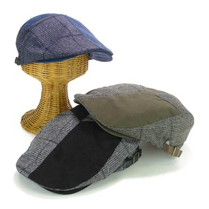 Checkered Switching Flat cap Suede Young Hats & Cap
