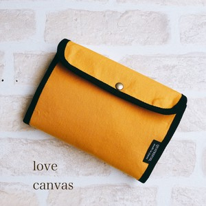 Hand Maid Yellow Canvas Mother And Child Notebook Case Passbook Case Parsons Can Use