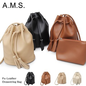 Leather Tassel Pouch Bag Shoulder Bag Pouch Attached