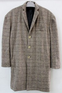 2018 A/W Men's Checkered Big Chesterfield Coat