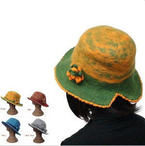[2019NewItem] Felt Corsage Attached Reversible Hats & Cap