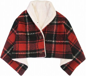 Blanket Tartan Check Red Ivory