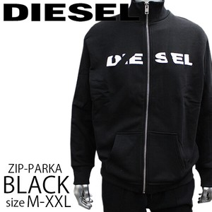 DIESEL ディーゼル MENS ロゴZIP SWEAT BLACK