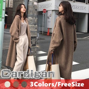 A/W Ladies Leisurely Knitted Long Cardigan Button Coat Plain Top Cape