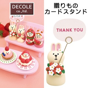 Gift Gift Card Stand Strawberry Rabbit