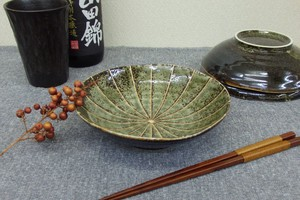 Dark Green Tokusa Small Bowl
