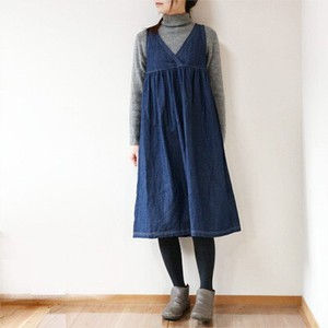 Denim Zip‐up Jacket Skirt
