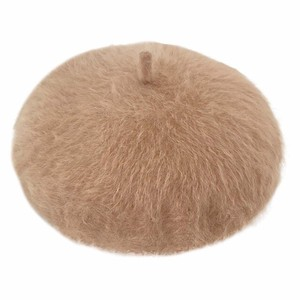 Microwave Oven Beret Ladies A/W Attached Angola Fluffy Fur Beret 5 Colors