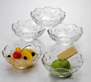 Leaf Cut Mini Dish Clear 5 Pcs Glass Glass Plates & Utensil Mini Dish Bowl Frill Leaf