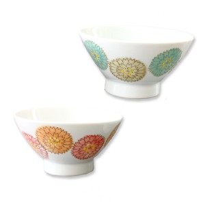 HASAMI Ware Pastel Kurawanka Bowl 2 Colors Ceramic HASAMI Ware Rice Bowl 2 Colors 12cm