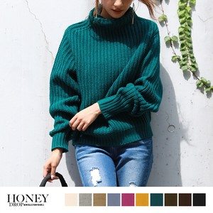 A/W High Neck Knitted Top