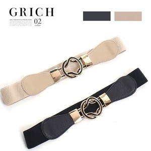 A/W Belt Fancy Goods Edge Gold Ring Elastic Belt Daily