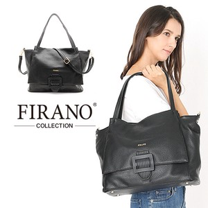 Buckle Attached soft Leather Tote Bag Eco Bag Set