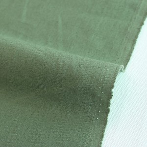 Fabric Plain Half Linen Vintage Green Unit Cut Sales