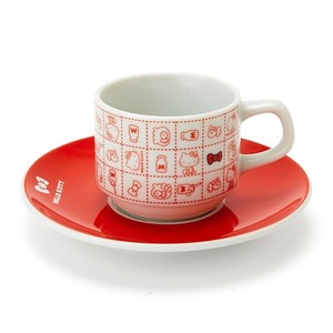 Hello Kitty Demitas Cups & Saucer Red Ribbon