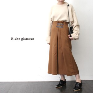 [2019NewItem] Double Belt Tuck Skirt