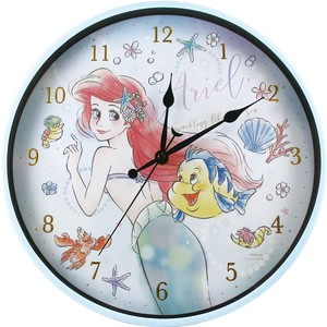 Disney Bib Index Wall Clock Ariel