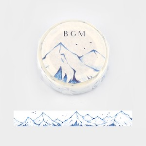Limited Stock [BGM] Washi Tape  / Masking Tape Snowy Mountain