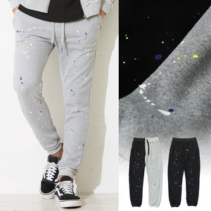 pen Processing Cut Design Fleece Sweat Slim Pants Men's