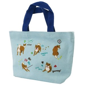 Lunch Tote Canvas Tote Shibatasan Days Blue