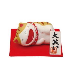 Chigiri Japanese Paper Big laugh Cat Ornament